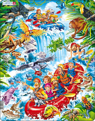 Rafting the Amazons 35 Piece Children's Jigsaw Puzzle