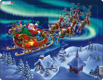Santa in Nordic Light 26 Piece Children's Jigsaw Puzzle