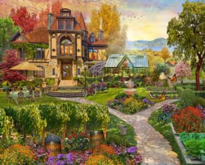 Vineyard Retreat 500 Piece Puzzle