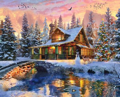 Rocky Mountain Christmas 1000 Piece Jigsaw Puzzle
