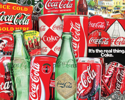 New! Vintage Soda Cans 1000 Piece Jigsaw Puzzle