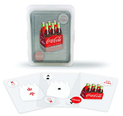Coca-Cola Clear Plastic Playing Cards Plastic Playing Cards