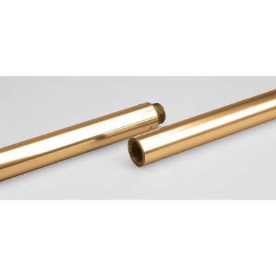 "Gold Aluminum Indoor Flagpole - 7' Length 1"" Diameter 1 Section"
