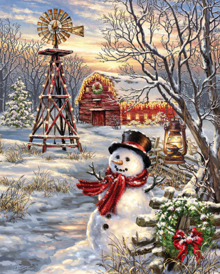 Winter Windmill 1000 Jigsaw