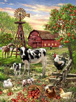 NEW! Barnyard Animals 100 Piece Jigsaw Puzzle