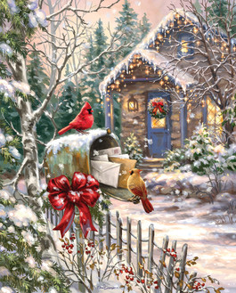 Cardinal Cottage 1000 Piece Jigsaw Puzzle