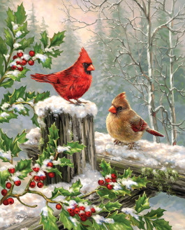 Winter Visitors 1000 Piece Jigsaw Puzzle