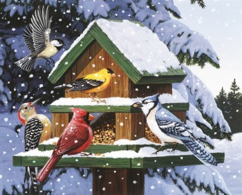 Winter Feeder 120 Piece Jigsaw Puzzle
