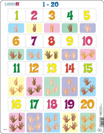 Counting 1-20 Children's Educational 20 Piece Jigsaw Puzzle