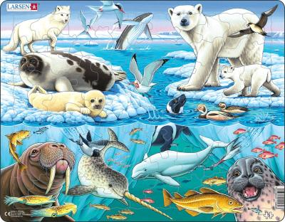 Arctic Ice Children's Educational 75 Piece Jigsaw Puzzle