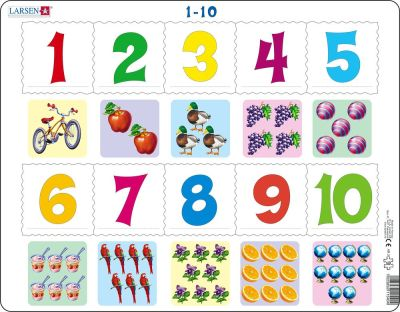 Counting 1-10 Children's Educational 10 Piece Jigsaw Puzzle