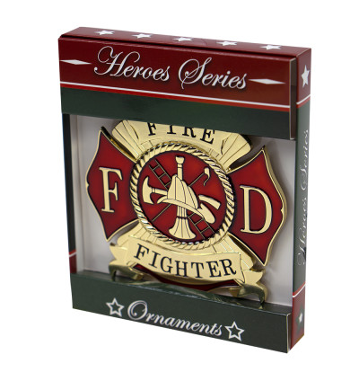 Firefighter Ornament | Heroes Series