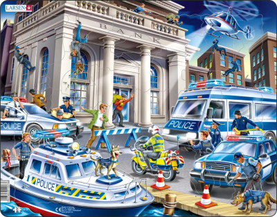 Police Children's Educational 43 Piece Jigsaw Puzzle
