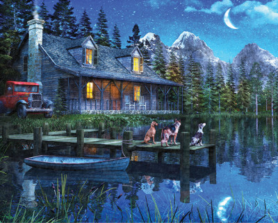 Moonlit Night 1000 Piece Jigsaw Puzzle