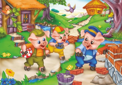 Three Little Pigs 35 Piece Jigsaw Puzzle
