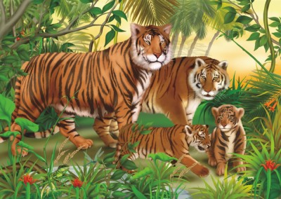 Tigers 240 Piece Jigsaw Puzzle