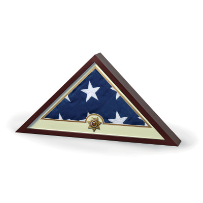 SHADOWBOX SHERIFF WITH FLAG