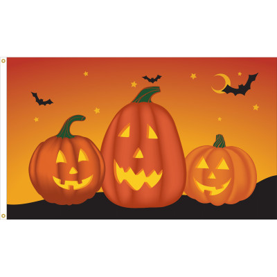 Pumpkin Flag - 3' x 5' - Nylon