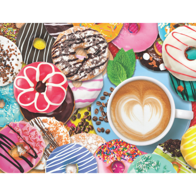 Donuts N' Coffee 500 Piece Jigsaw Puzzle