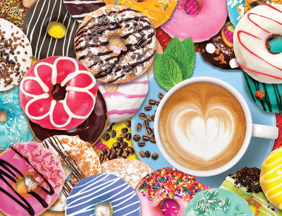 New! Donuts N' Coffee 500 Piece Jigsaw Puzzle