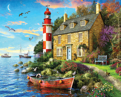 New! The Cottage Lighthouse 1000 Piece Jigsaw Puzzle