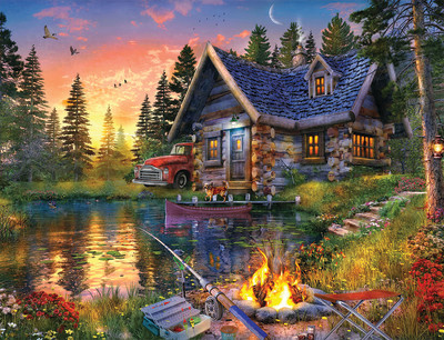 New! Sun Kissed Cabin 500 Piece Jigsaw Puzzle