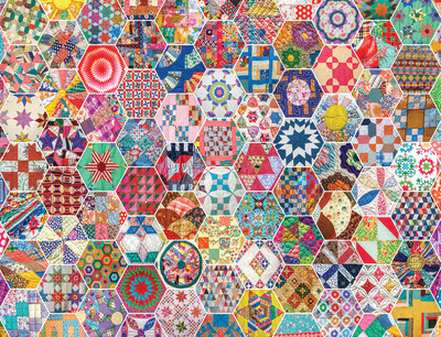 New! Crazy Quilts 500 Piece Jigsaw Puzzle