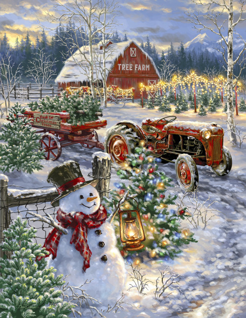 Christmas Tree Farm 1000 Jigsaw