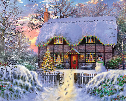 Yuletide Cottage 1000 Piece Jigsaw Puzzle