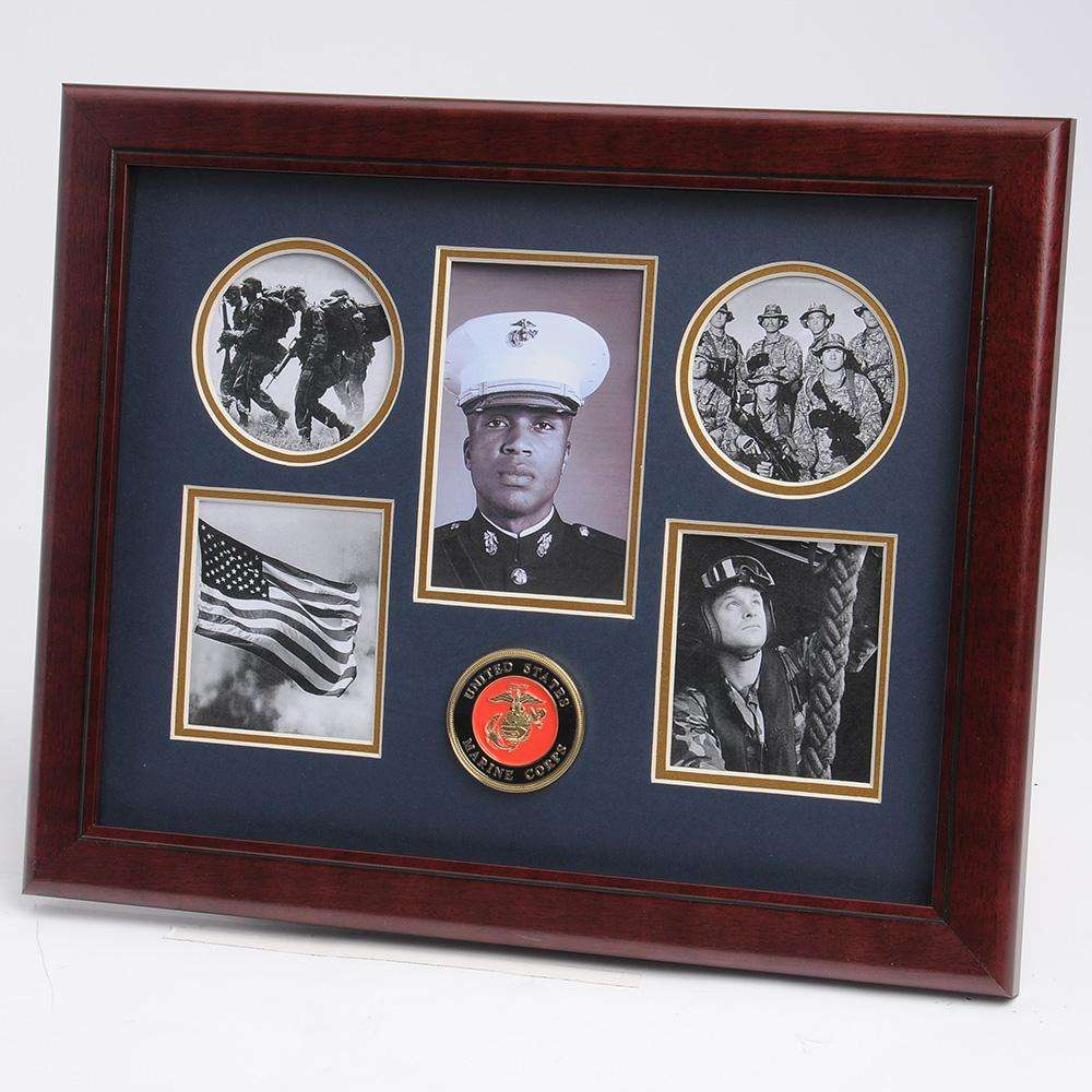 Us Marine Corps Medallion 5 Picture Collage Frame