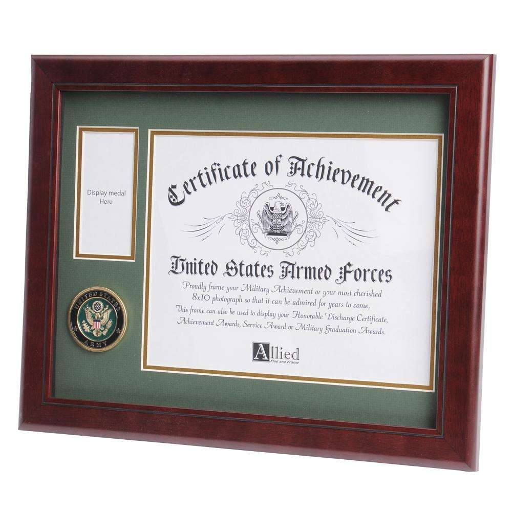 Us army picture frames us army certificate holders us army medallion 8 inch by 10 inch certificate and medal frame jeuxipadfo Images