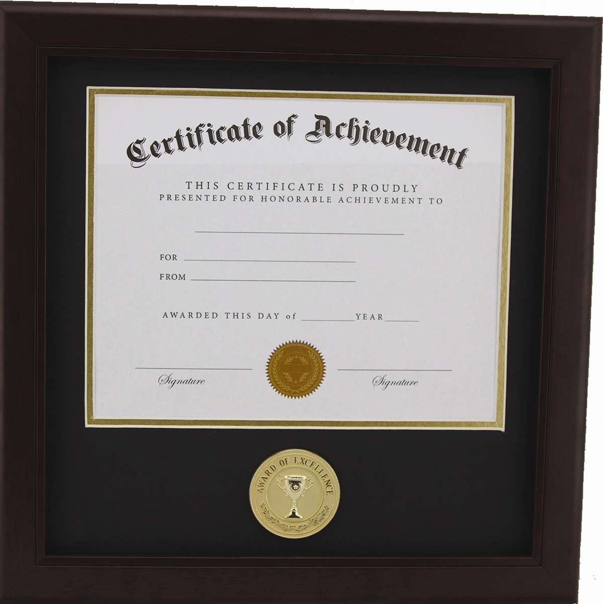 Award Of Excellence 8 Inch By 10 Inch Certificate Frame Mahogany