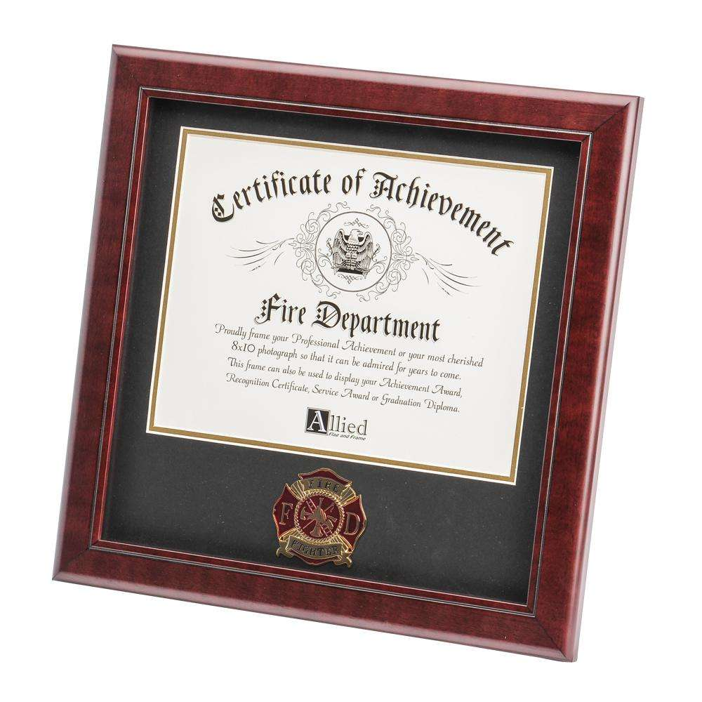 Firefighter Medallion 8-Inch by 10-Inch Certificate Frame