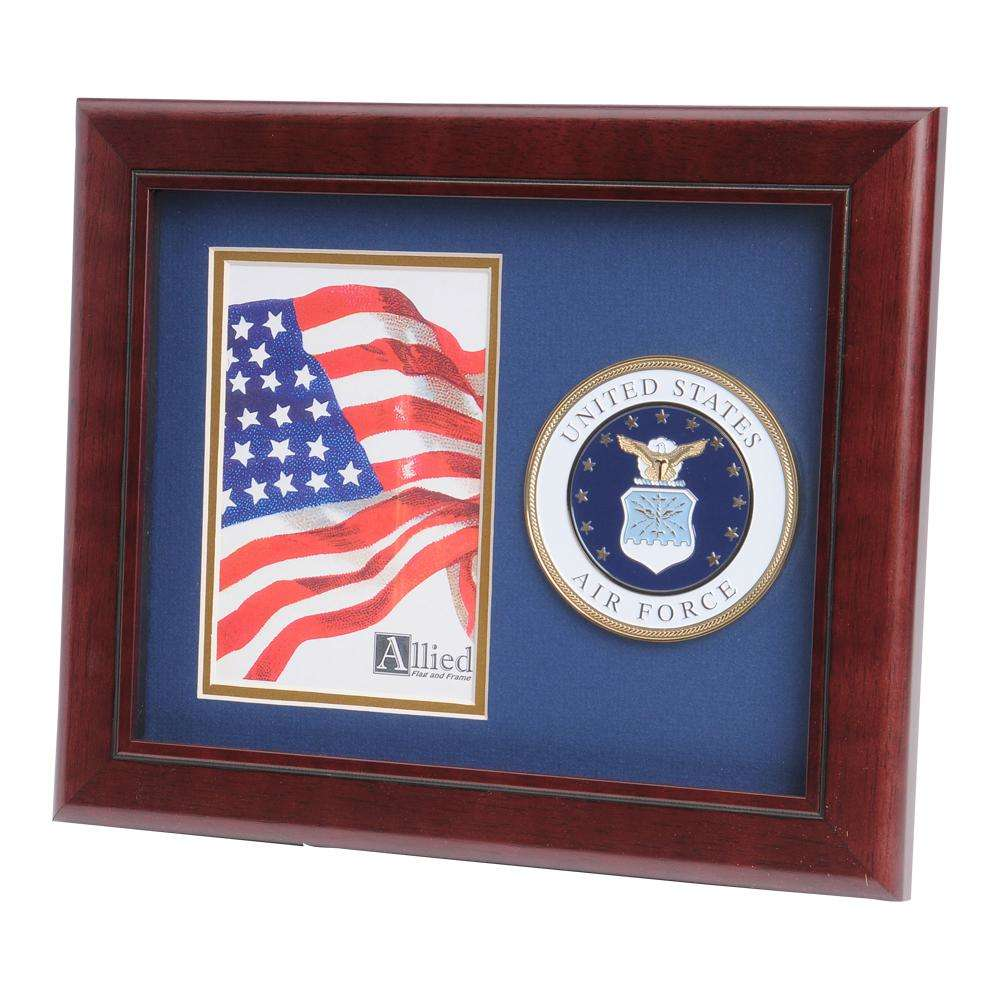 Us Air Force Medallion 4 Inch By 6 Inch Portrait Picture Frame