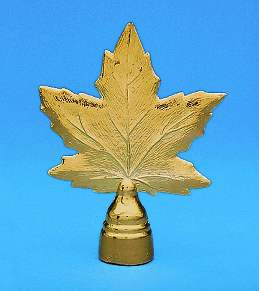a983459f33c Golden Plated Canadian Maple Leaf Indoor Flag Pole Ornament