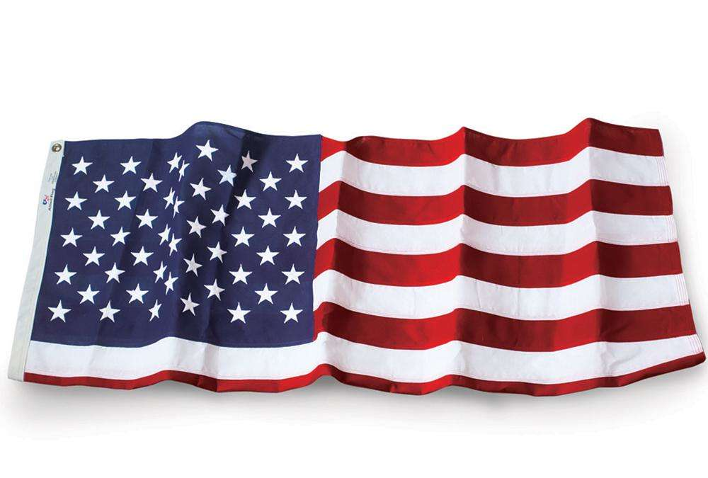u.s. flag - 5' x 8' embroidered polyester