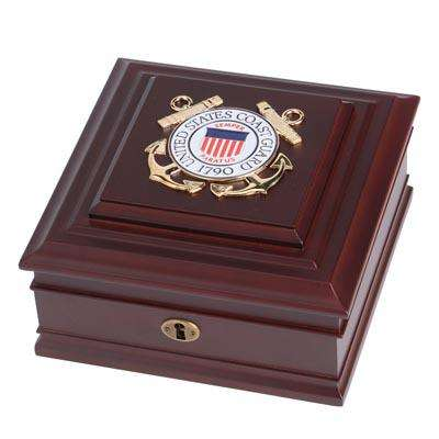 U.S. Coast Guard Medallion Desktop Box