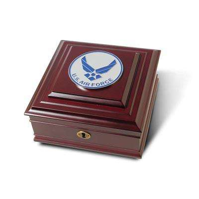 Aim High Air Force Medallion Desktop Box