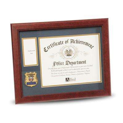 Police Department Medallion 8-Inch by 10-Inch Certificate and Medal Frame