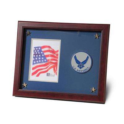Aim High Air Force Medallion 5-Inch by 7-Inch Picture Frame with Stars