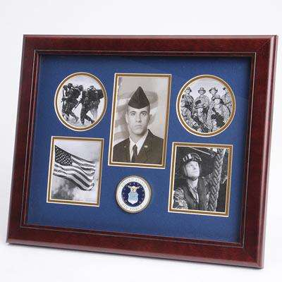 U.S. Air Force Medallion 5 Picture Collage Frame