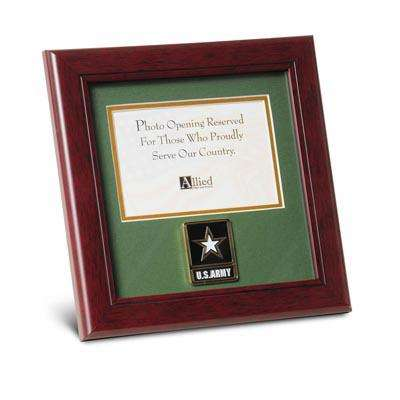 Go Army Medallion 4-Inch by 6-Inch Landscape Picture Frame