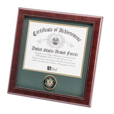 U.S. Army Medallion 8-Inch by 10-Inch Certificate Frame