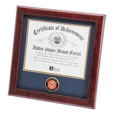 U.S. Marine Corps Medallion 8-Inch by 10-Inch Certificate Frame
