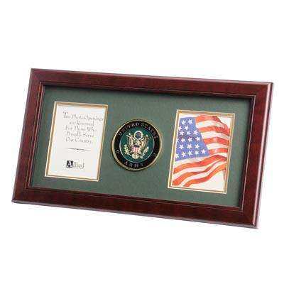 U.S. Army Medallion 4-Inch by 6-Inch Double Picture Frame