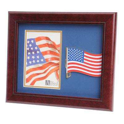 American Flag Medallion 4-Inch by 6-Inch Portrait Picture Frame