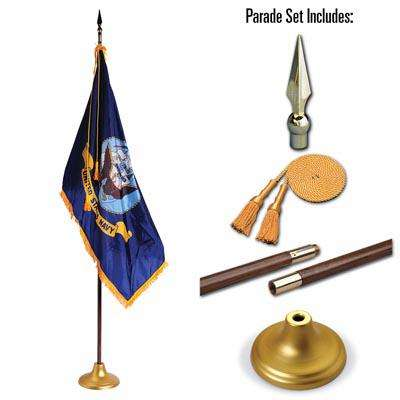 U.S. Navy 3 x 5 Indoor Display and Parade Flag Set