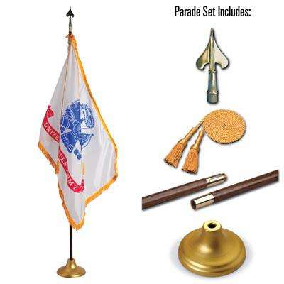 U.S. Army 4 x 6 Indoor Display and Parade Flag Set