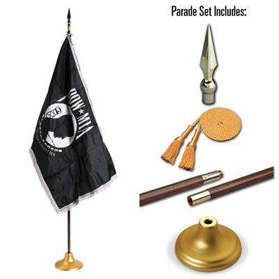POW MIA 3 x 5 Indoor Display and Parade Flag Set
