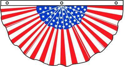 Pleated Full Fan Americana